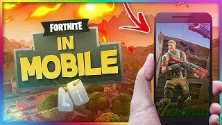FORTNITE MOBILE IS HERE!!! FIRST LOOK - INVITE CODES FOR YOU!!! Fortnite Mobile