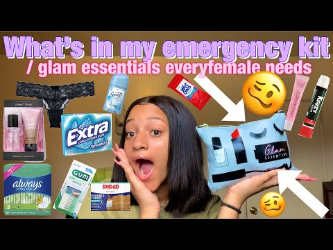 ' WHATS IN MY EMERGENCY KIT/GLAM ESSENTIALS✨💗!!!Ft;Soufeel