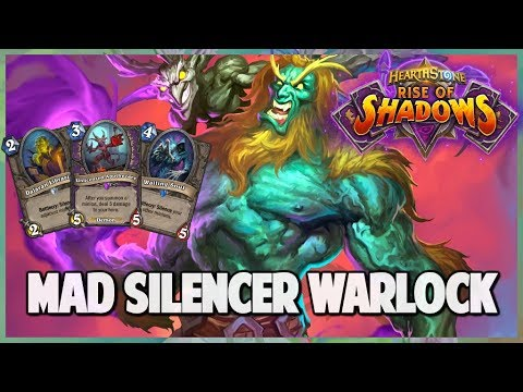 Mad Silencer Warlock | Journey into Wild 159 | Hearthstone | Rise of Shadows
