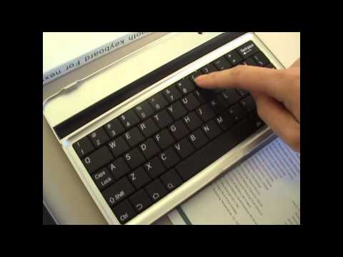Wireless Bluetooth Keyboard Stand for Google Nexus 7 setting up
