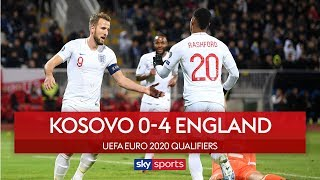 England finish campaign with 4-0 win! | Kosovo 0-4 England | Euro 2020 Qualifier