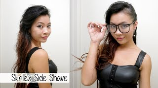 Skrillex-inspired Faux Side Shave Hairstyle l How to Fake a Side Cut