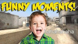 CS:GO FUNNY MOMENTS - ROASTED BY A 10 YEAR OLD KID, FLYING CONDOM, TROLLING NOOBS