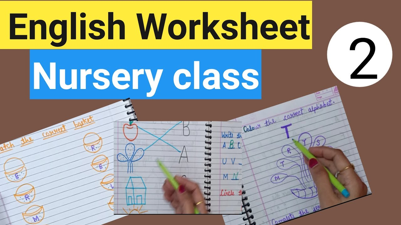 English Worksheet for Nursery class    ABC worksheet for kids. - YouTube [ 720 x 1280 Pixel ]