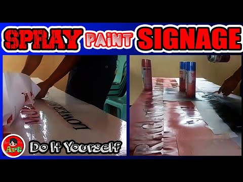 How To Make Signage | Lettering And Logo |  Using Spray Paint |