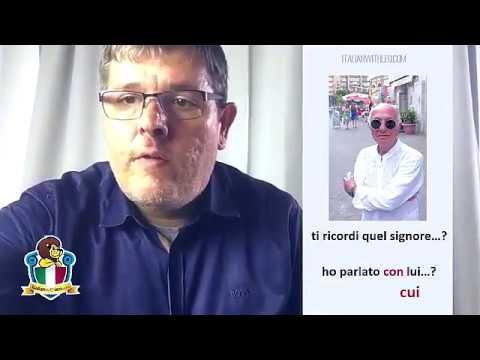Learn italian online - Parla con Leo - 1 - Piace + pronouns - che vs. cui - LIVE 25/6/2017