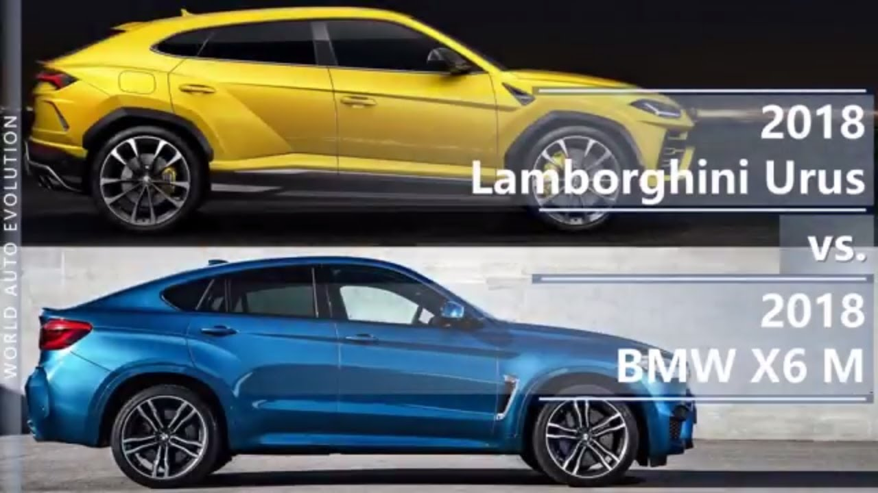 2018 Lamborghini Urus vs 2018 BMW X6 M (technical ... Lamborghini Vs Bmw