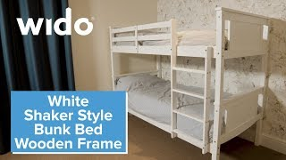 Wido Wooden Bunk Bed Frame Product Video (BEDB)