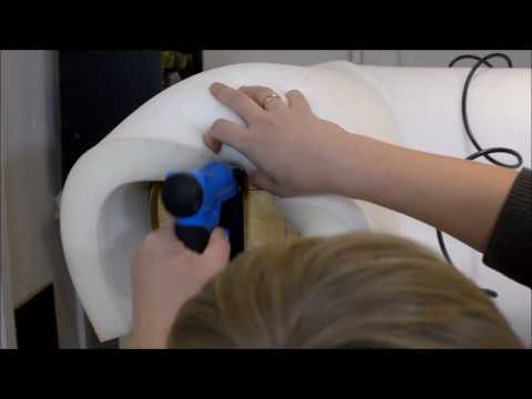 How To Make A Chesterfield Sofa,  Foam Installation Process, Part 3