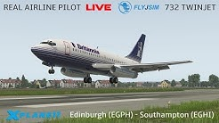 Flyjsim Boeing 737-200 Flown by Real 737NG Captain | Edinburgh - Southampton