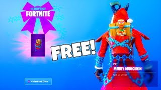"New! *FREE* Christmas Day GIFT! ""Gingerbread Back Bling"" (MERRY MUNCHKIN) Fortnite Battle Royale"