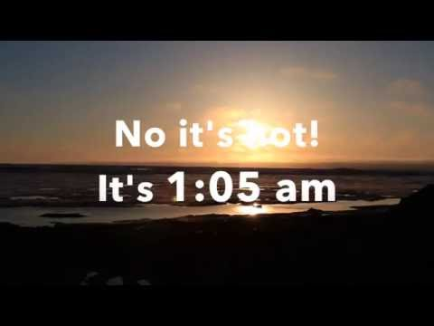 1:05 AM with 24 hours of daylight | Barrow Alaska