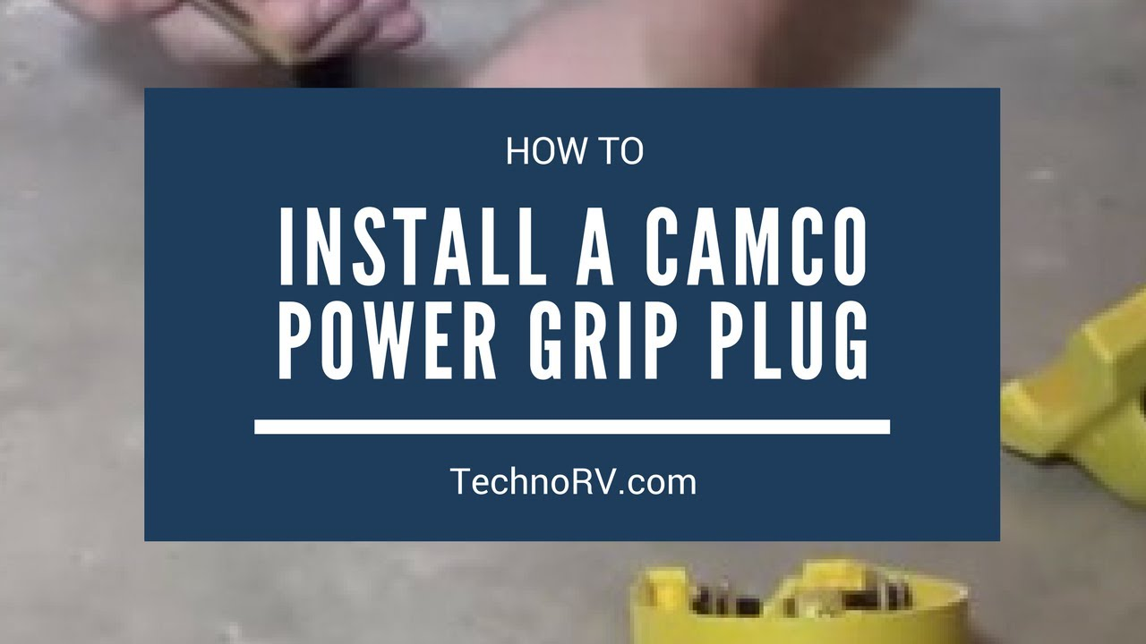 installing the camco power grip 50a male replacement plug