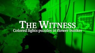 The Witness: Colored lights puzzles in flower bunker
