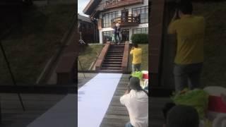 Эффектный выход жениха, Байкал, ресторан Анастасия