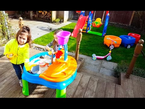 Having Fun in the Garden/ Toys Sand Slide and Swing