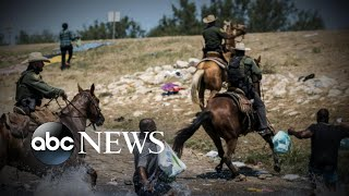 Images show border patrol agents attempting to push back migrants l GMA