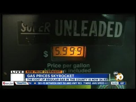 Gas Prices San Diego >> San Diego Gas Prices Continue To Skyrocket Youtube
