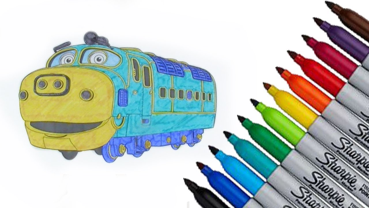 Chuggington Brewster Coloring page 2017 New HD Video for Kids - YouTube