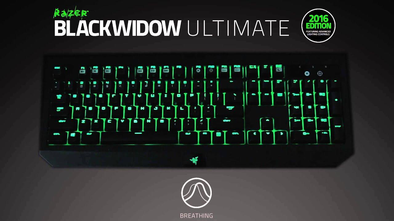 3b97002380b Razer Blackwidow Ultimate 2016 | Lighting Effects - YouTube