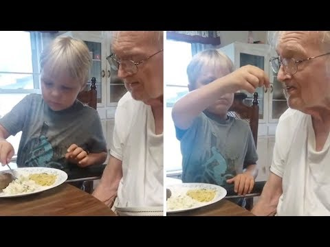 Tony Sandoval on The Breeze - Selfless 6 year - old feeds his Great-Grandfather with Alzheimer's