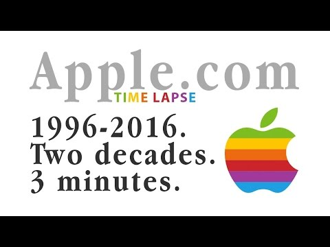 Apple.com 1996-2016 TIME LAPSE: 2 Decades in 3 Minutes