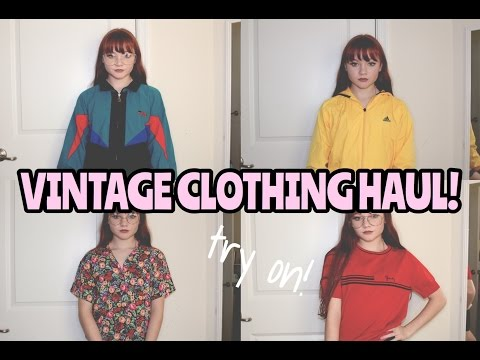 VINTAGE TRY ON CLOTHING HAUL