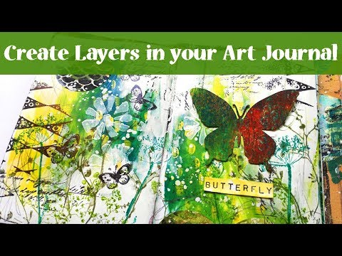 Create Layers - Art Journal Tutorial with Butterfly thumbnail