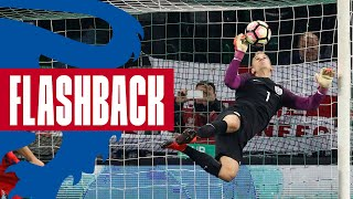 Dele Alli and England Players React to Unbelievable Hart Save v Slovenia | Flashback