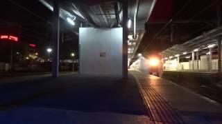 651系回送列車発車&足利大藤まつり号到着 日立駅にて