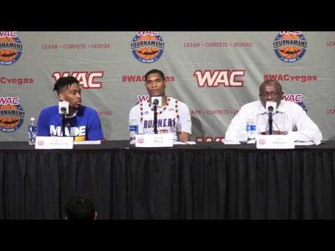 2016 WAC Basketball Tournament Postgame Presser - M's Game 5 - CSUB
