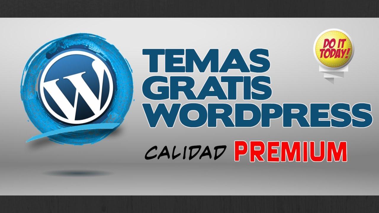 Plantillas Wordpress de CALIDAD PREMIUM GRATIS - YouTube