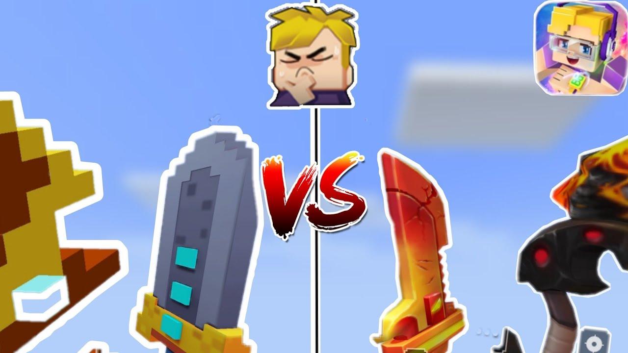 Download Lava Sword + Bow VS Pixel Sword + Bow Skin in Bedwars!! (Blockman Go : Bedwars)
