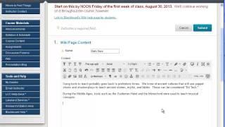 Comment créer, de modifier et de lien Wiki pages dans Blackboard
