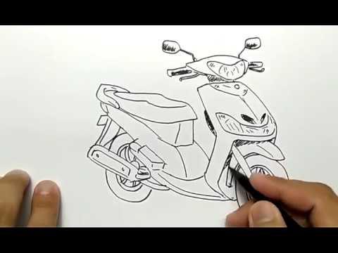 Cara Menggambar Motor Mio Dengan Mudah Dan Cepat Youtube
