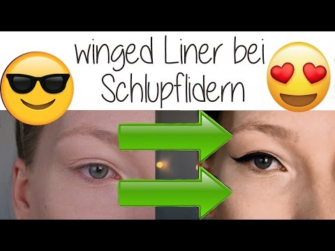 How to // winged Liner bei Schlupflidern