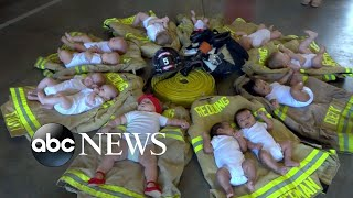 3 sets of twins born to firefighting team who battled Carr blaze