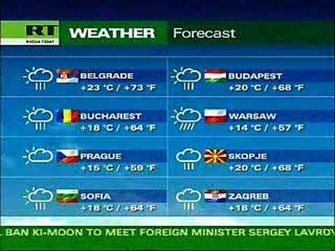 Weather Forecast Russische Förderation