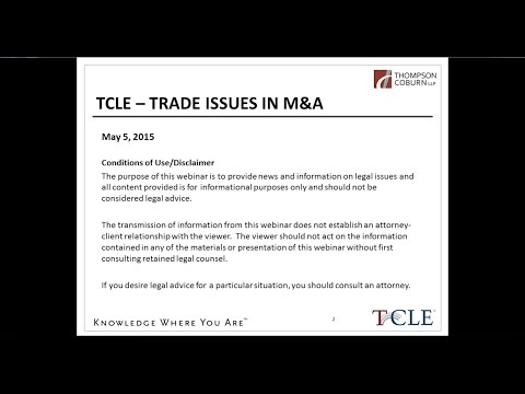 Trade Issues in M&A