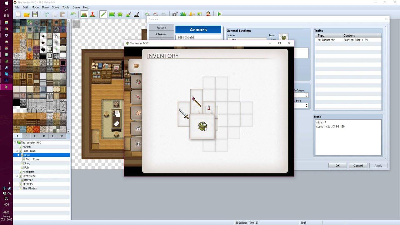 The Vendor MV -- Grid inventory semi-transparency, shadow and auto-swap