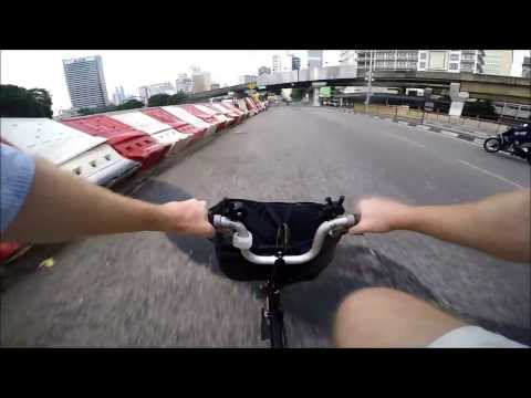Bicycling from main train station (KL Sentral) after meeting at Mercu UEM, Kuala Lumpur, Malaysia