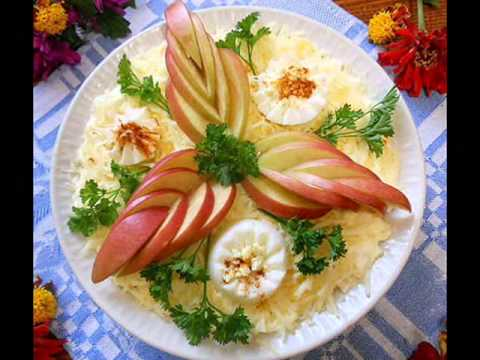 Украшение салатов своими руками пошаговое фото