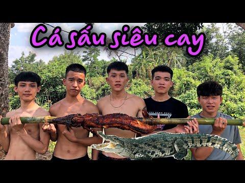 Cá Sấu Nướng Siêu Cay | Việt Nguyễn Official | Cùng Những Người Bạn đi Suối P1