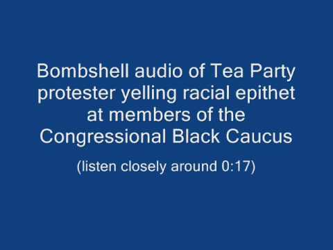 Tea Party protester yelling racial epithet - v2.0
