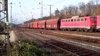 2 Oldtimers BR140 Class140 DB with Coal Train at Cologne Gremberg G 13-11-13.