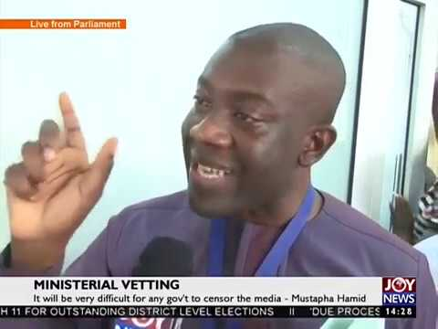 Vetting of Information Minister-designate ends - Joy News (9-2-17)