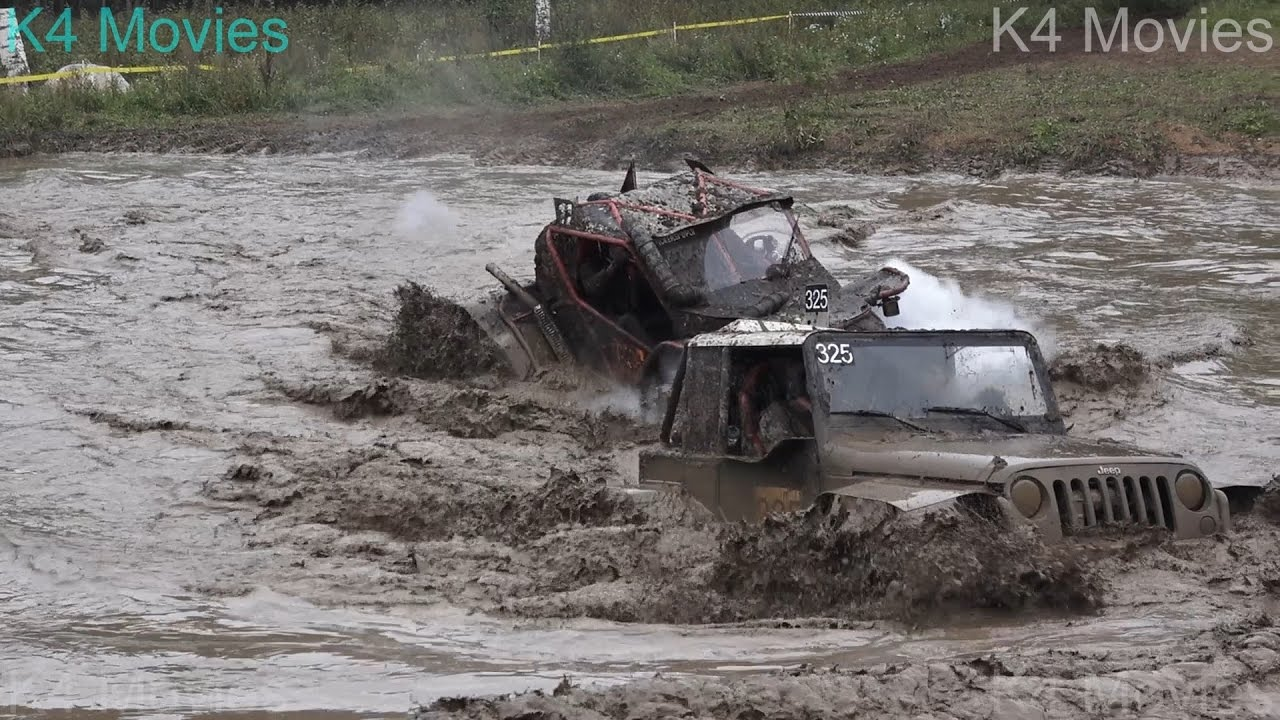 Off-Road vehicles vs Water pool