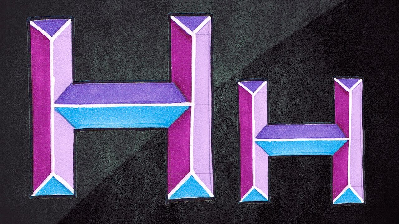 how to draw the letter h in graffiti
