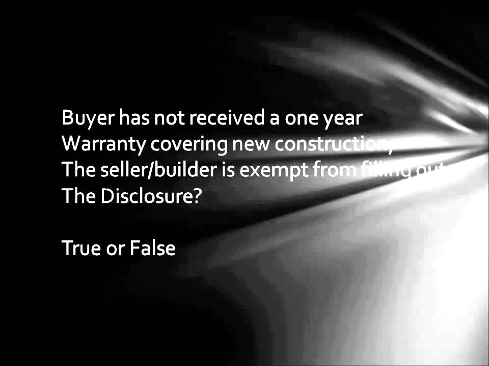 PA Seller's Disclosure Statement - YouTube