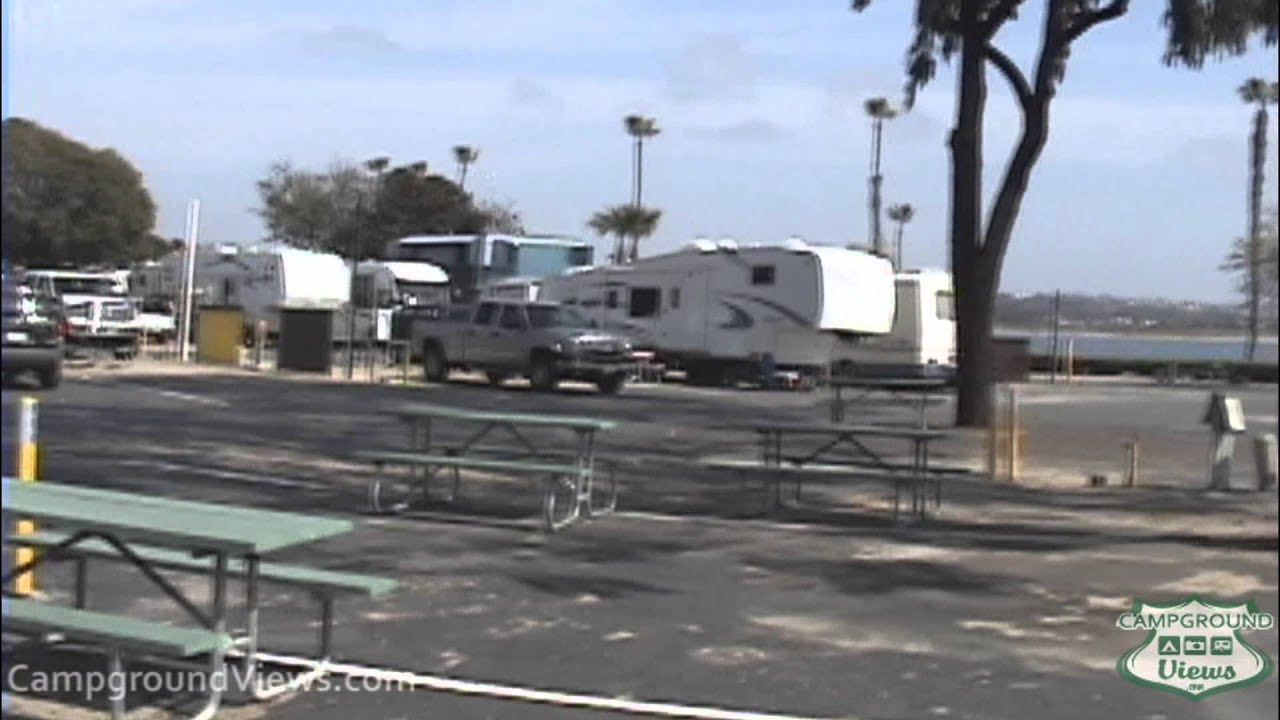 California beach camping with rv hookups at truck